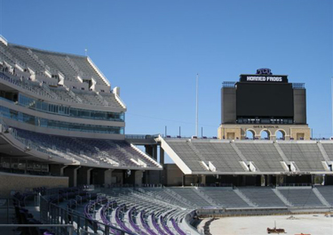Amon G, Carter Stadium at Texas Christian University